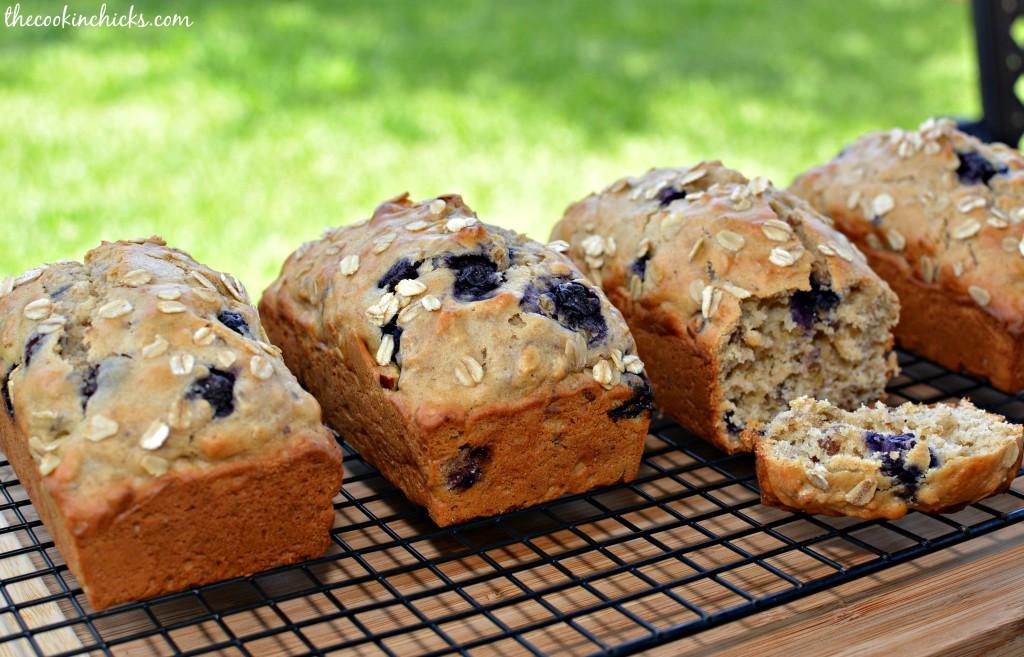 Blueberry Lemon Oatmeal Bread