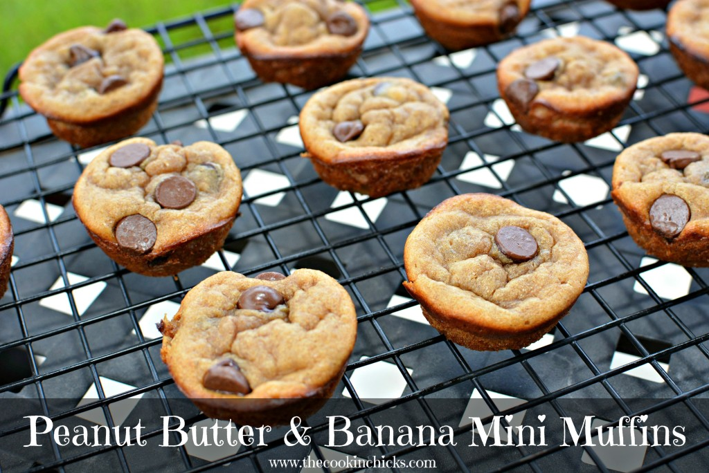 Peanut Butter & Banana Mini Muffins