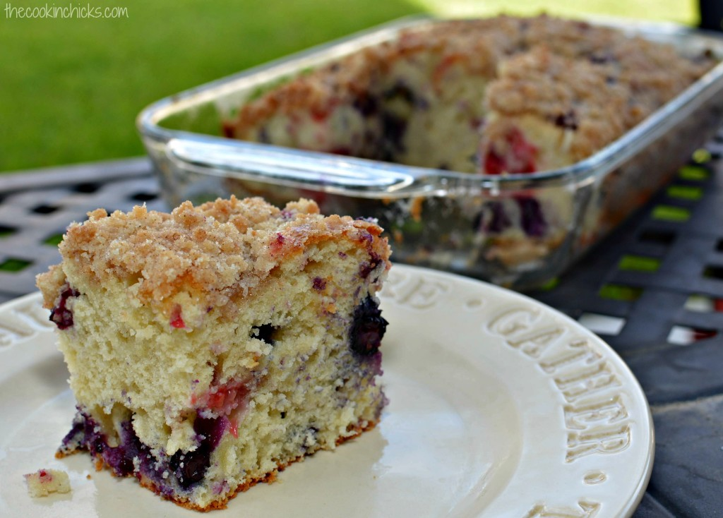 Cinnamon Streusel Blueberry Cake