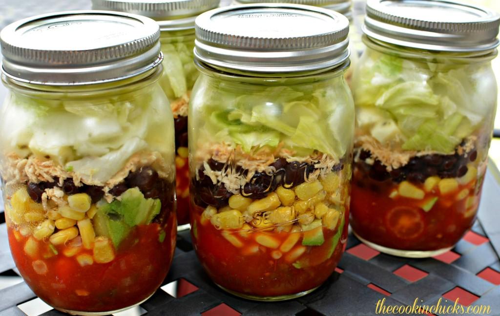 Fiesta Mason Jar Salads