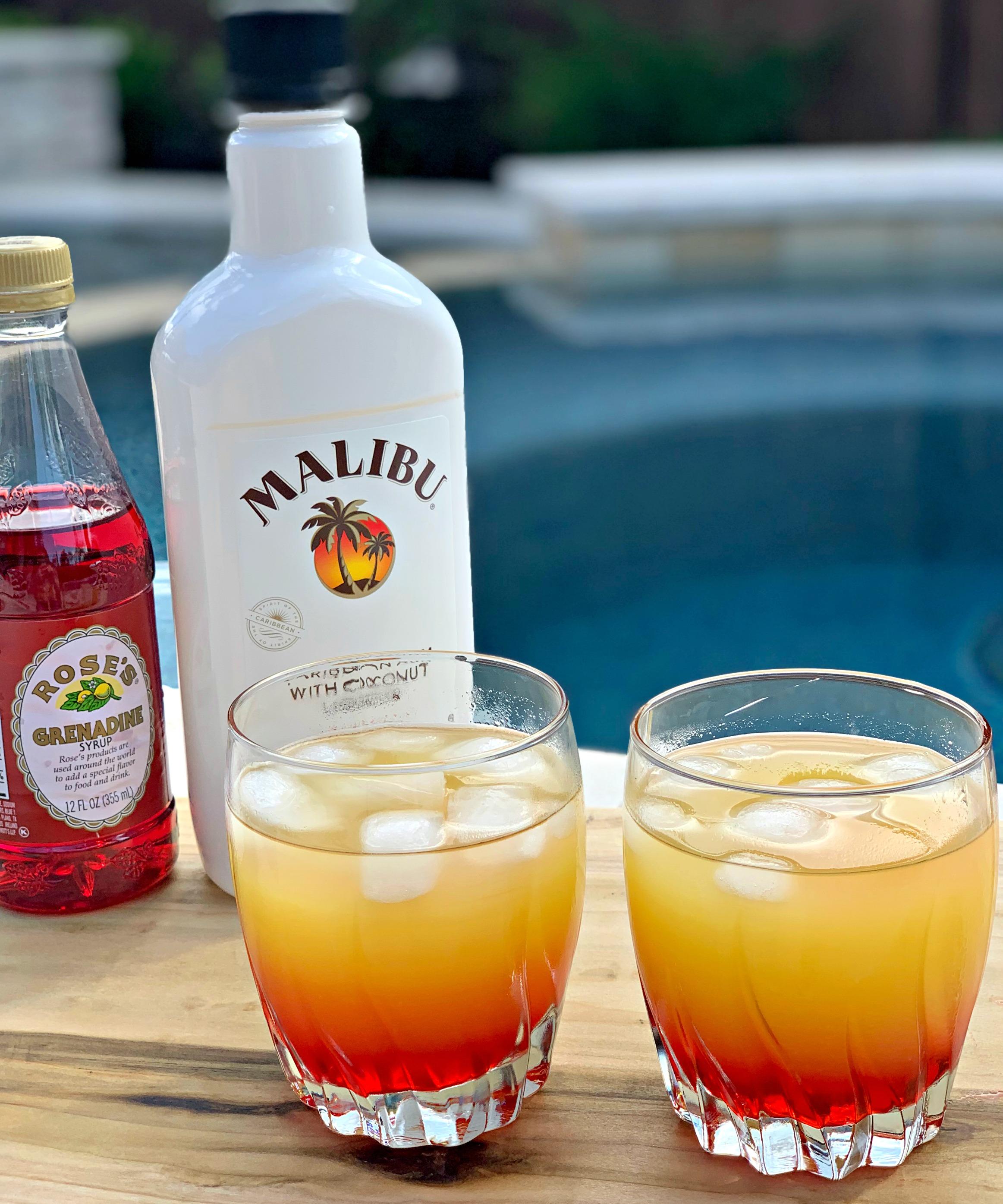 Malibu Sunset Cocktails