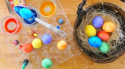 From the process of coloring eggs