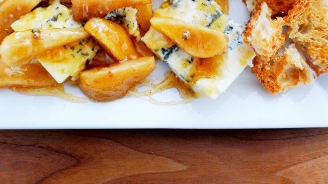 Blue Cheese with Pear and Vanilla Aigre-Doux II