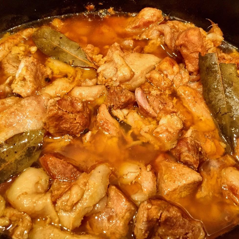 Six hours crockpot pork belly adobo