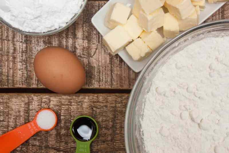 Ingredientes galletas mantequilla