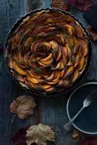 Receta tarta de boniatos