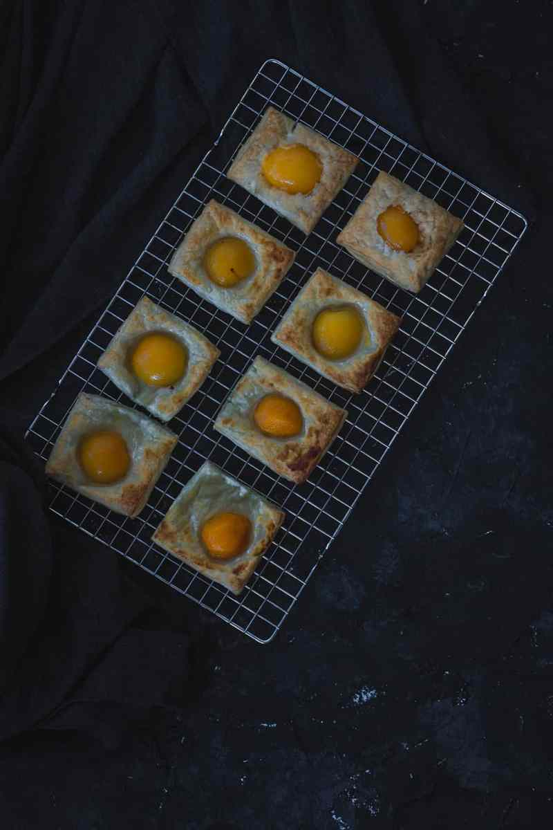 tartaletas de albaricoques