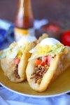 Homemade Mexican chalupas