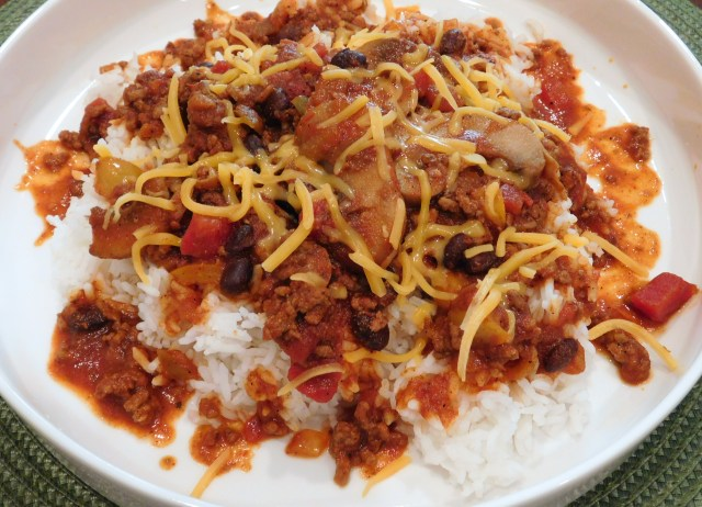 Cowboy Beef Beer Chili Recipe with Rice