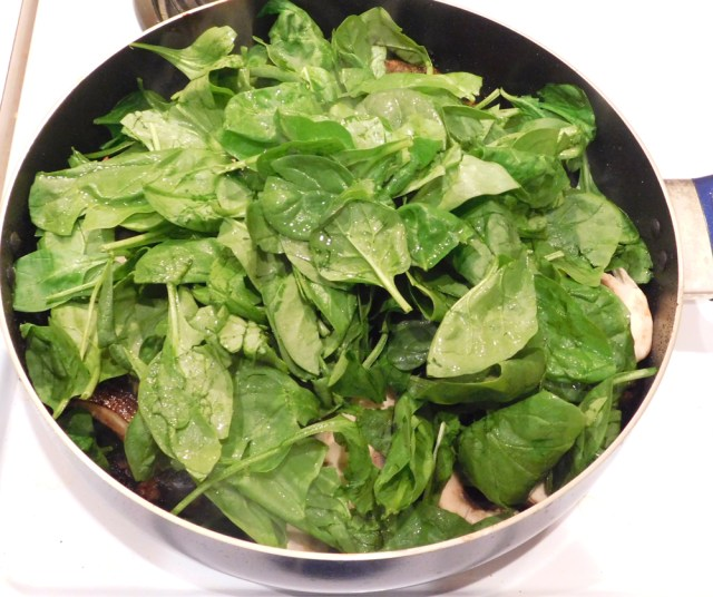one pan pork chop mushrooms spinach -1