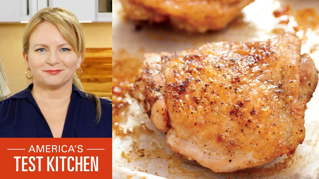How to Make Oven-Roasted Chicken Thighs and Apple Crumble