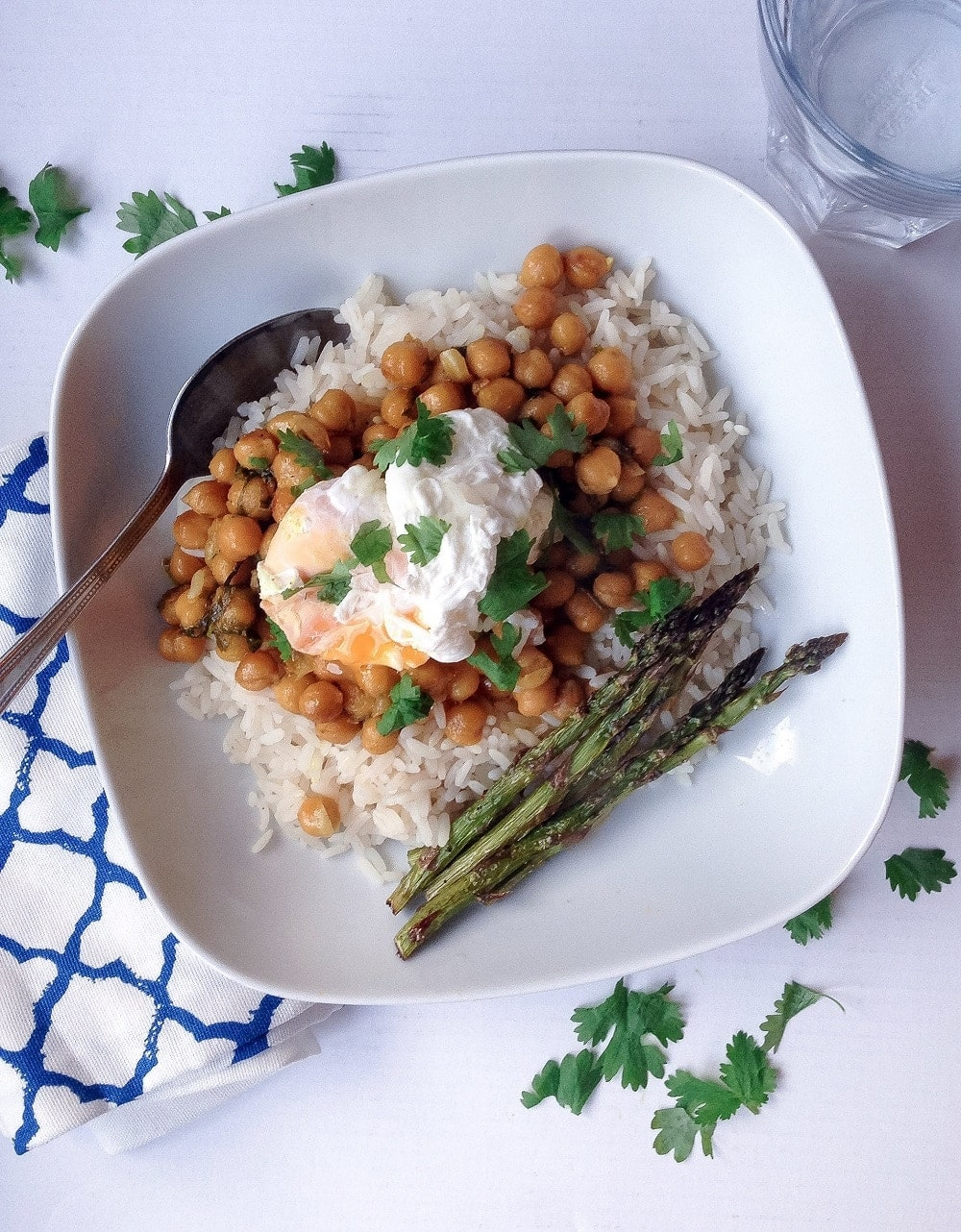 garlic butter coconut chickpeas