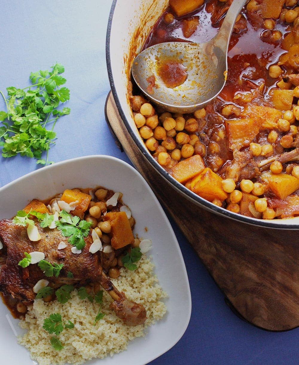 Try out this indulgent duck tagine with chickpeas and butternut squash for a slow cooked weekend treat.