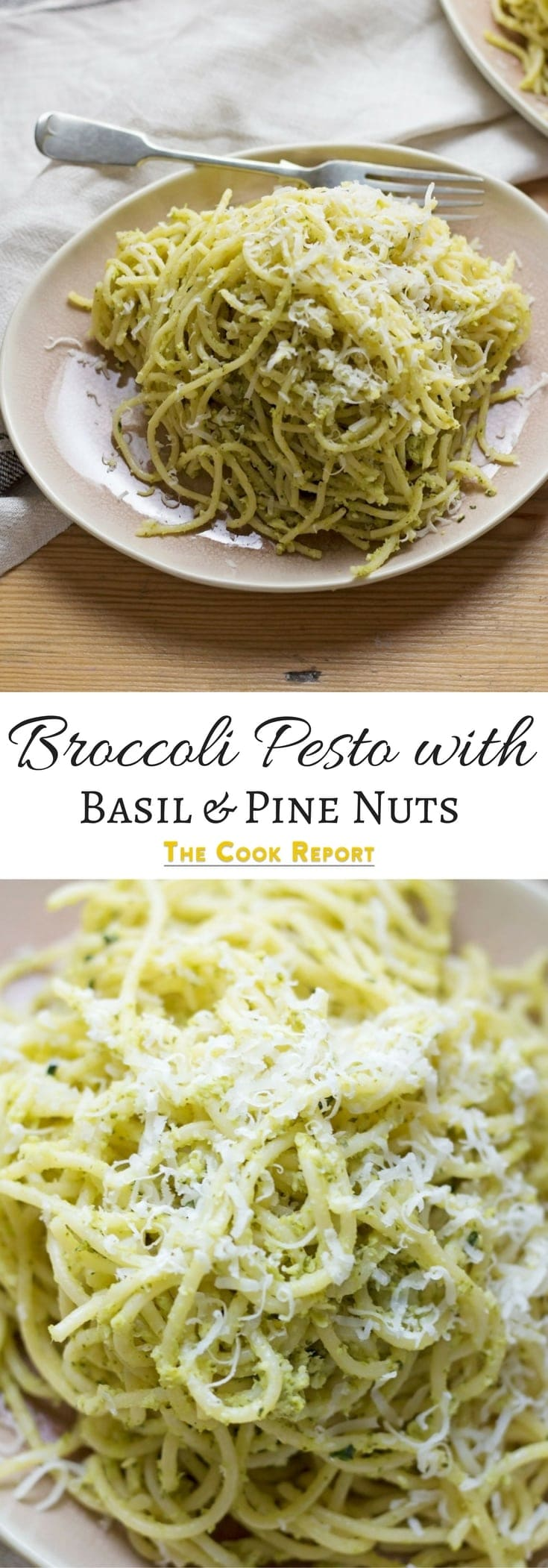 This quick and easy broccoli pesto is a fun twist on a classic pasta dish. Great for adding an extra vegetable to your dinner!