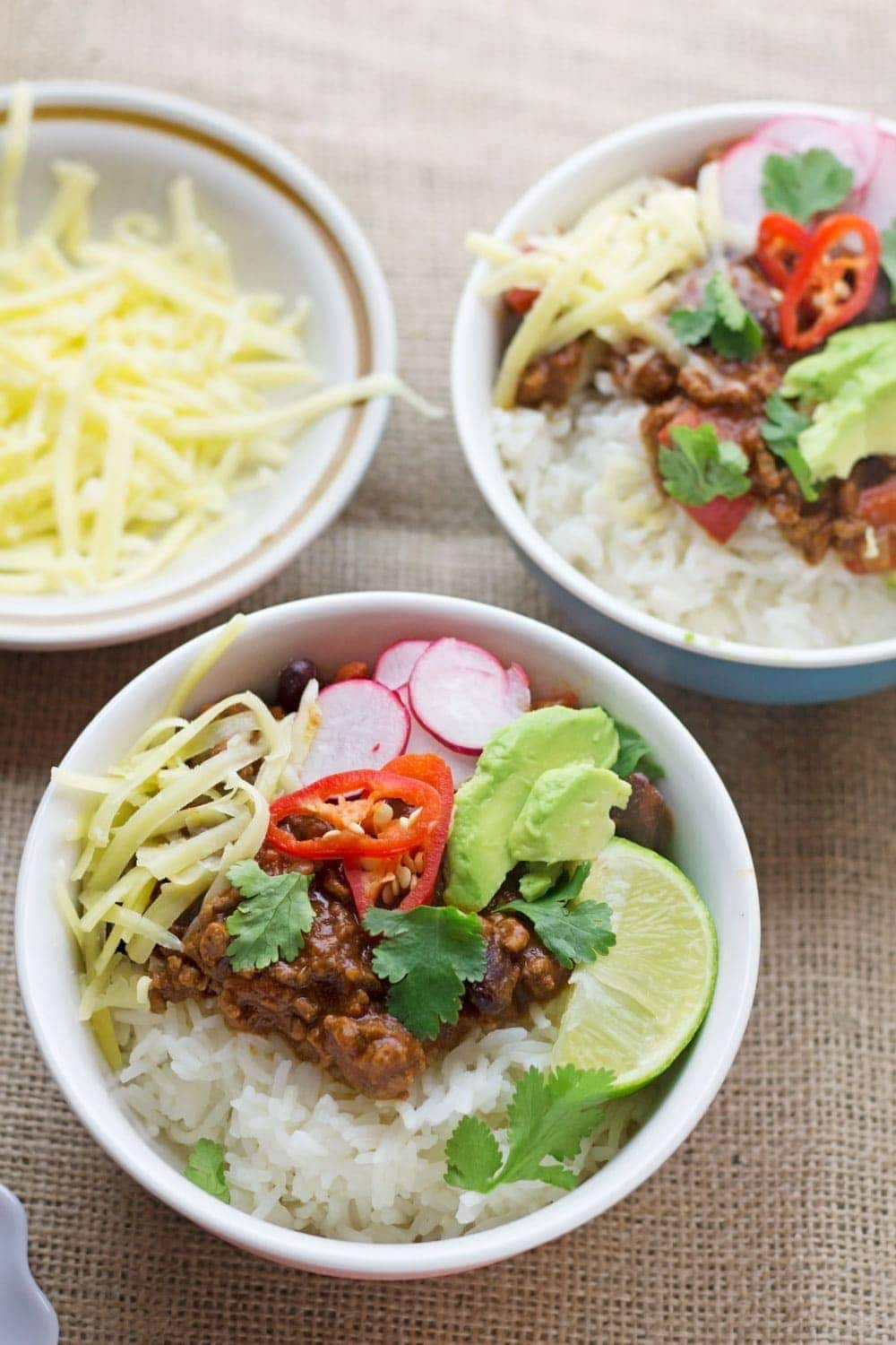 There are few things better than a classic beef chilli con carne. Make sure you don't forget the toppings, the more the better!