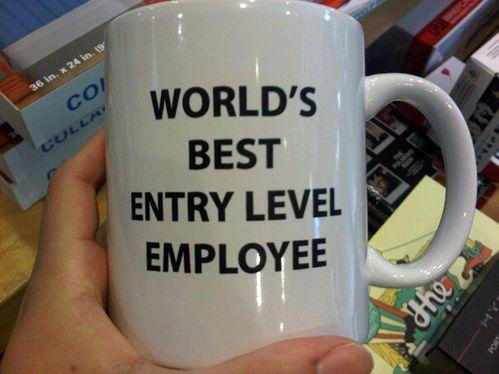 Worlds Best Entry Level Employee Coffee Mug The Coolest