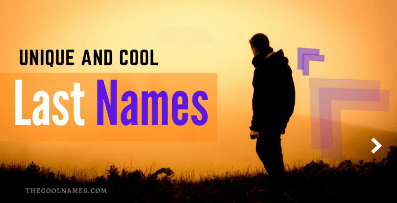 Unique Last Names