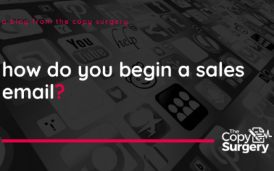 How do you start writing a sales email?