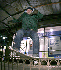 Scott on skateboard
