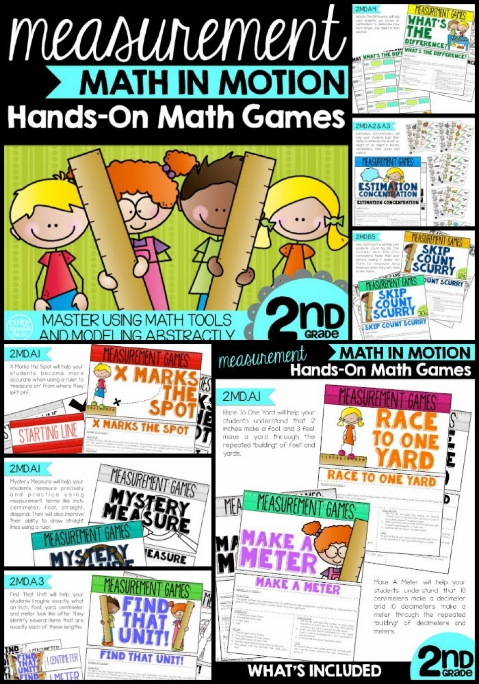 Math In Motion Measurement Math Games pack
