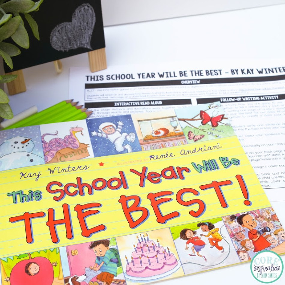 This School Year Will Be The Best! book cover and interactive read aloud lesson plans