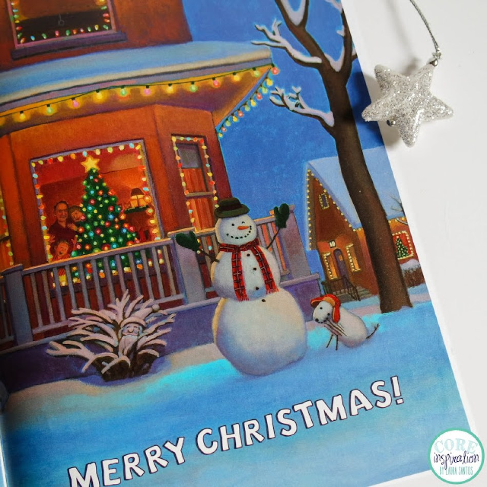 A peek inside the book: the last page of Snowmen At Christmas