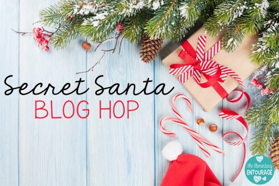 Elementary Entourage Secret Santa Blog Hop Header