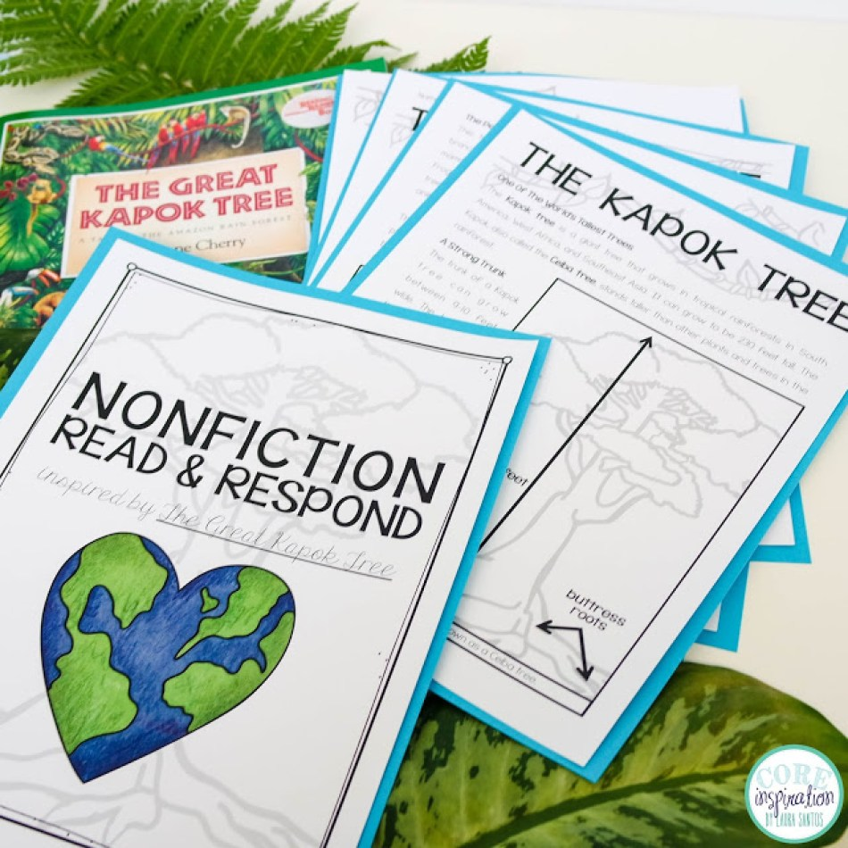 Core Inspiration Nonfiction read and respond article and questions about Kapok Trees