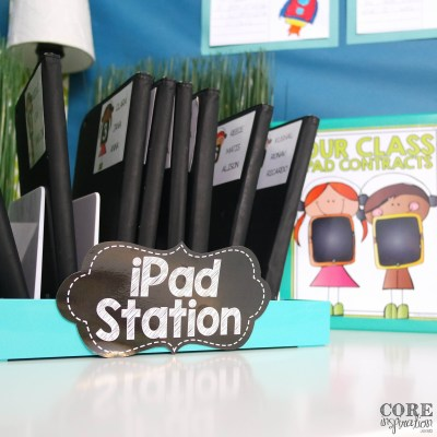 iPad Station with Contract Binder