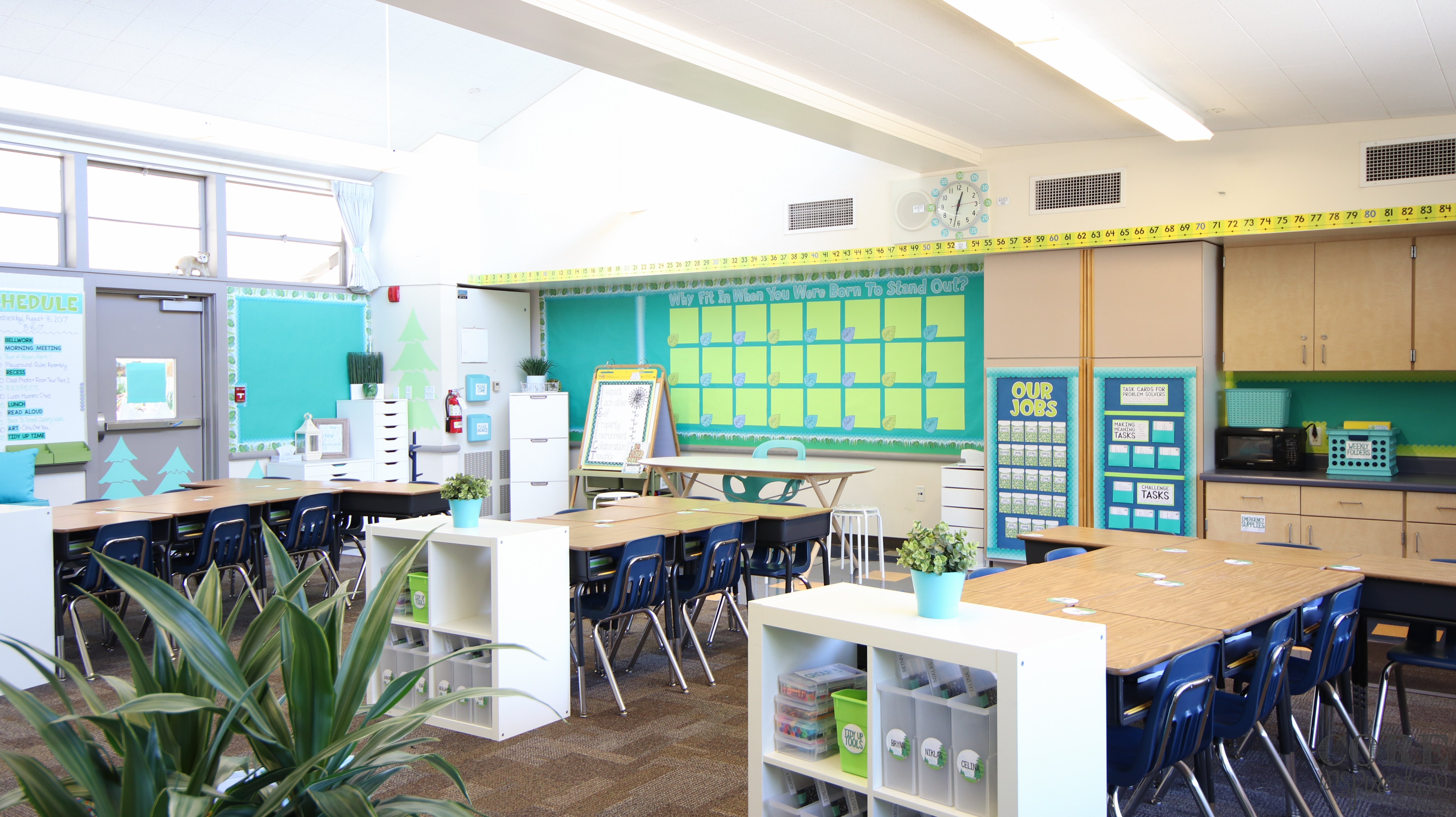 Core inspiration classroom reveal, back of the classroom