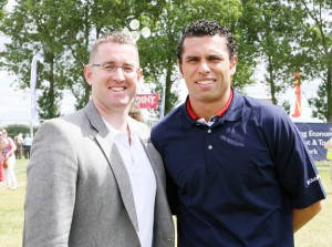 At the Cork Summer Show, Cllr Daithi O Donnabhain and Sean Og Ohailpin. Picture, Tony O'Connell Photography.