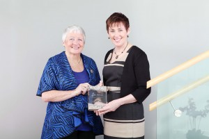 Siun Kearney is congratulated by fellow RoundTable Mediator on receipt of the Mediation Institute of Ireland (MII) Award for Achievement in Family (Separating Couples) Mediation 2015.  The award recognises Siun's excellence in mediation as a key element in resolving family issues, particularly those involving children, separation and divorce.  Pic Diane Cusack