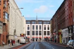 Artists impression of new development seen from Washington Street