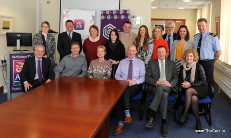 Members of the Cork Business Association executive committee photographed with their president Pat O'Connel and Hugh Griffin AIB Manager at their monthly committee meeting hosted at AIB 26 Patrick Street, Cork. Photo Billy macGill.