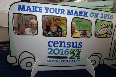 *** NO REPRODUCTION FEE *** DUBLIN : 23/3/2016 : Pictured at the launch of Census 2016 are (l-r) were An Taoiseach Enda Kenny TD and with Mike Taaffe, one year old who will be counted on a census form for the first time on 24 April with Teresa Moran, Raheny, who is age 100 and has been counted in 17 censuses and Dorothea Findlater, Blackrock, who is 106 years' old and has been counted in 18 censuses. The census will take place on Sunday, 24 April giving the people of Ireland the chance to make their mark on the future. Everybody in Ireland, young and old, must be counted on a census form. Delivery of forms to every home in the country will begin this week. More information about Census 2016 can be found on www.census.ie Picture Conor McCabe Photography. MEDIA CONTACT : Paula Curtin, MKC Communications, T. 01 703 8612 M. 087 4109910 E. paula@mkc.ie