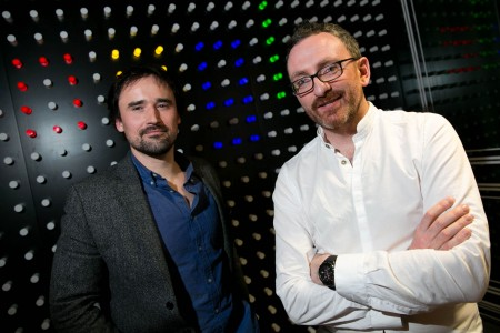 Google adopt A startup. Pictured are Dr Piotr Jakubowicz, SOTHIC Bioscience, Owen O'Doherty, Carefolk.com both Cork City based company's.          Picture by Shane O'Neill Photography.
