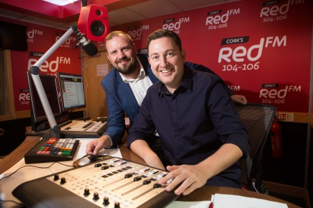 DJs KC and Ray Foley in the Red FM Studios. DJ Ray Foley Makes a Return to the Airwaves with CorkÕs Red FM Popular Radio and TV Presenter Ray Foley is making a return to radio this summer with CorkÕs Red FM. Starting on July 2nd Ray Foley will be waking up the people of Cork for a special 12 week series every Saturday between 7am & 10am. An award winning DJ, Ray Foley who is currently a presenter on the 7 OÕclock Show on TV3 is excited about the move saying ÒIÕm delighted to be joining CorkÕs number one radio station! IÕve been a fan of Red FM for many years because theyÕre one of the best radio stations in the country.Ó Ray Foley will be very familiar to the people of Cork having presented his very popular self-titled lunchtime show on Today FM for 6 years and also the Irish version of Take Me Out on TV3. Ray Foley will be also be joining his old Today FM colleague at Red FM ÒKC is an old buddy of mine so when he suggested coming on board for Saturday mornings I couldnÕt believe it! Of course I said yesÓ. KC (Keith Cunningham) who is also the programme director was in great humour at the announcement Òafter receiving 600 daily demos from Ray, we have decided that itÕs time to give him a slot. Foley is a super talent on air. Delighted to have him with Corks Number 1 stationÓ.  The announcement of Ray Foley comes two years after Neil Prendeville made a move across the city and KC moved back from Dublin, resulting in CorkÕs Red FM becoming the no1 radio station in Cork. Speaking about the latest addition CEO Diarmuid OÕLeary added that ÓCorkÕs Red FM is delighted that Ray Foley is going to be entertaining our listeners on Saturday mornings for the summer Ð we canÕt wait to hear him back on the radio from this weekendÓ. Ray Foley who won 3 Meteor Awards and 5 PPI awards will bring a fresh sound to Saturday mornings in Cork. ÒI've had many brilliant Friday nights out in Cork city, so I should apologise in advance for waking everybody up on Saturday morning. I promise I'll be gentle!Ó he added. The Ray Foley Show on CorkÕs Red FM 104 Ð 106fm starts on Saturday July 2nd at 7am and will run until 17th of September, more details can be found on www.redfm.ie Pic Darragh Kane