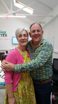Myself with the absolutely lovely presenter John Scott