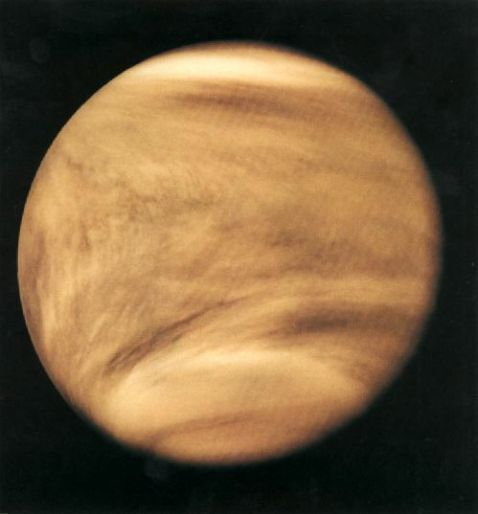 UV image of Venus's atmosphere by Pioneer
