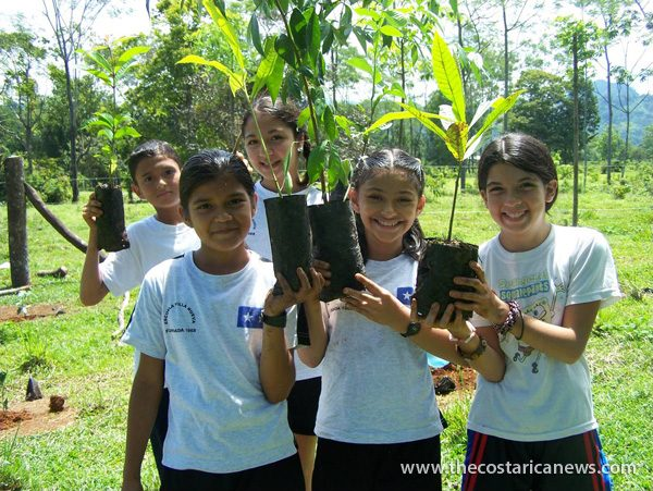Students helping to plant trees. -Katrina Palmer