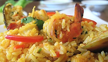 seafood rice (arroz mariscos) from Costa Rica restaurant