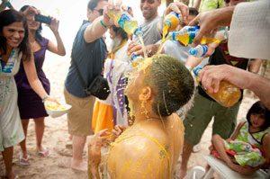 Haldi ceremony on the beach