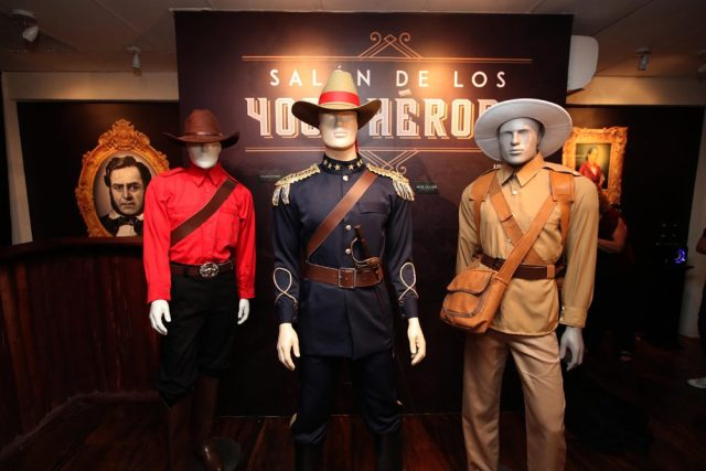 Replicas of their uniforms of the 4,000 fighters