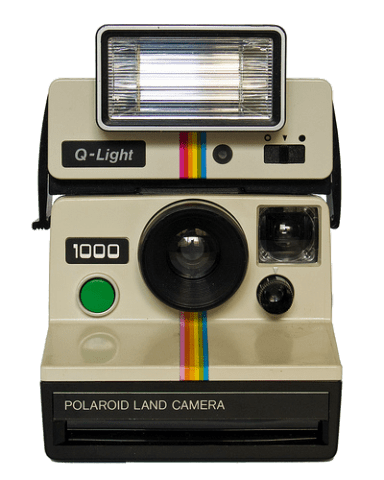Polaroid cameras were the first cameras with an instant-photo system.