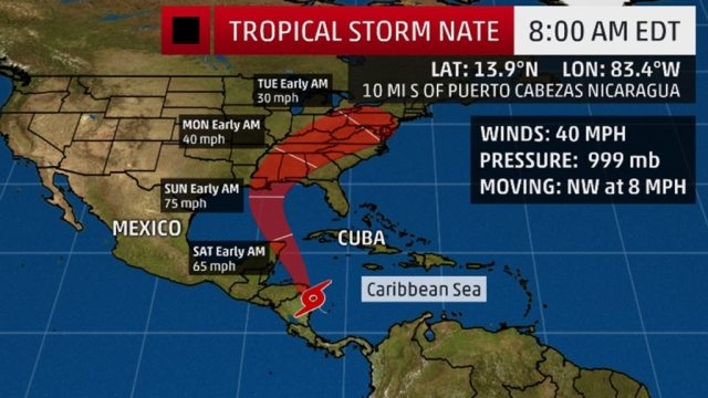 Weather Report on Nate Storm