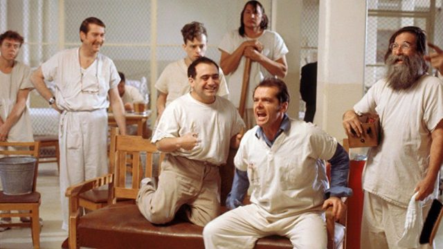 """Flew Over the Cuckoo's Nest"" starred by Jack Nicholson."