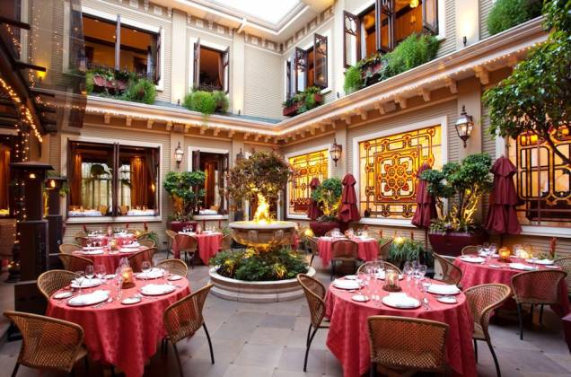 Internal view of the restaurant Grano de Oro