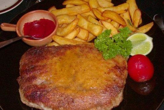 One of the main dishes of La Bastille restaurant