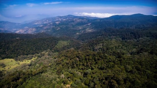 Landscape of the Quetzal viewpoint