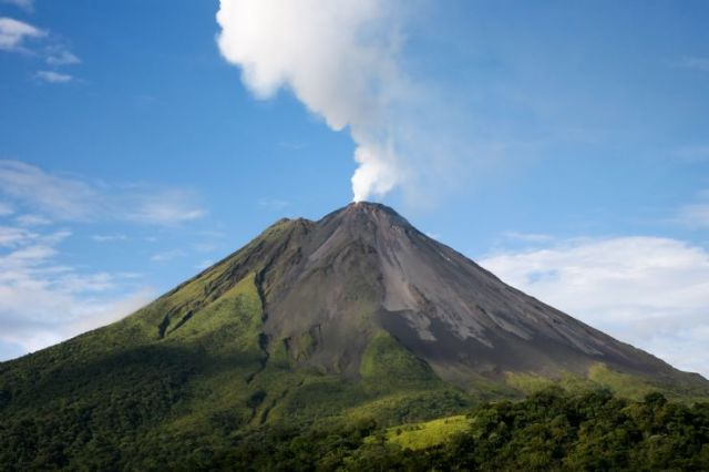 Arenal Volcano in activity